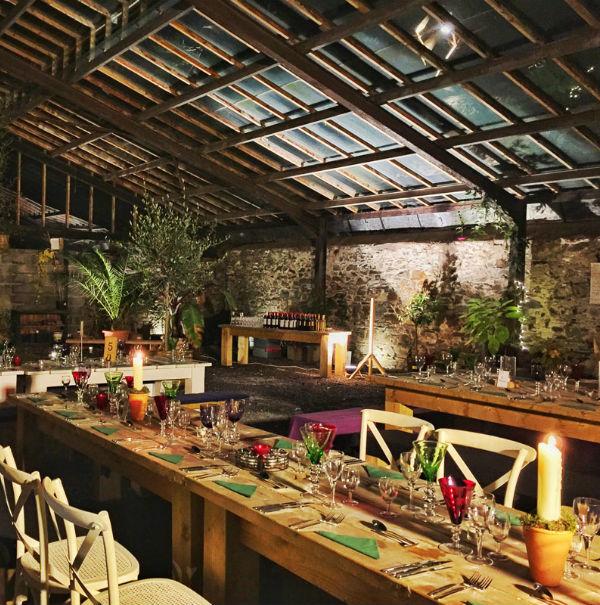 Glasshouse Wedding Venue Night