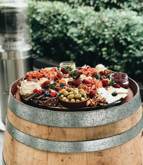 Grazing platter barrel