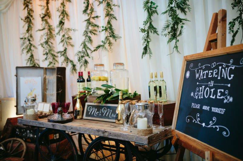 Rustic Cart Drinks Table