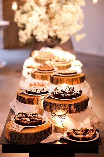 Log Slice Dessert Table