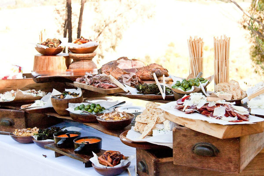 Rustic Shelves Grazing Table